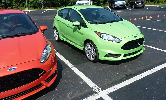 Ford Fiesta Photos: 2014 Ford Fiesta ST extra-cost orange and green