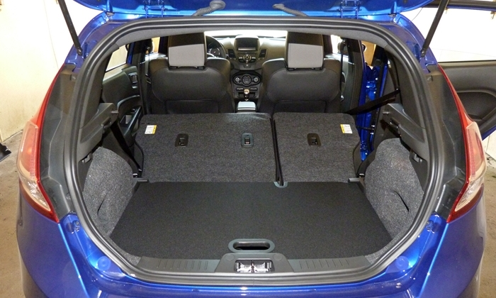 Ford Fiesta Photos: 2014 Ford Fiesta ST cargo area seats folded