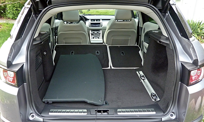 Range Rover Evoque Reviews: Range Rover Evoque cargo area seats folded