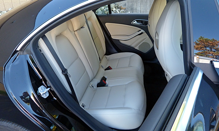 CLA Reviews: Mercedes-Benz CLA250 back seat