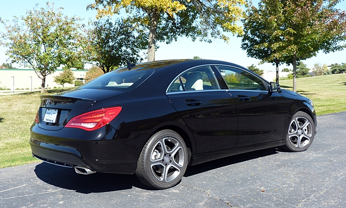 CLA Reviews: Mercedes-Benz CLA250 rear quarter view
