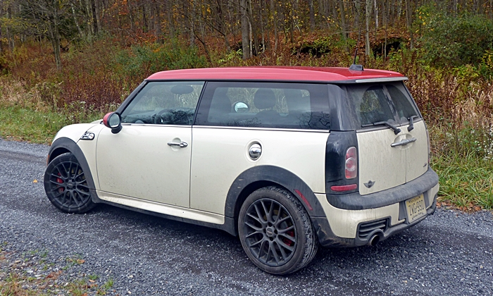 Cooper Clubman Reviews: Mini JCW Clubman rear quarter view