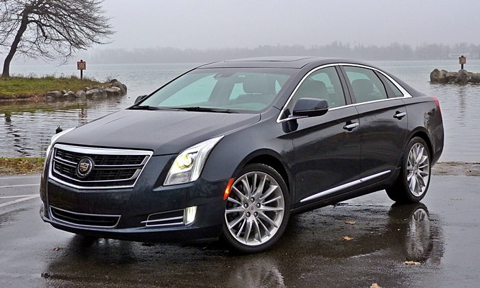 XTS Reviews: Cadillac XTS Vsport front angle