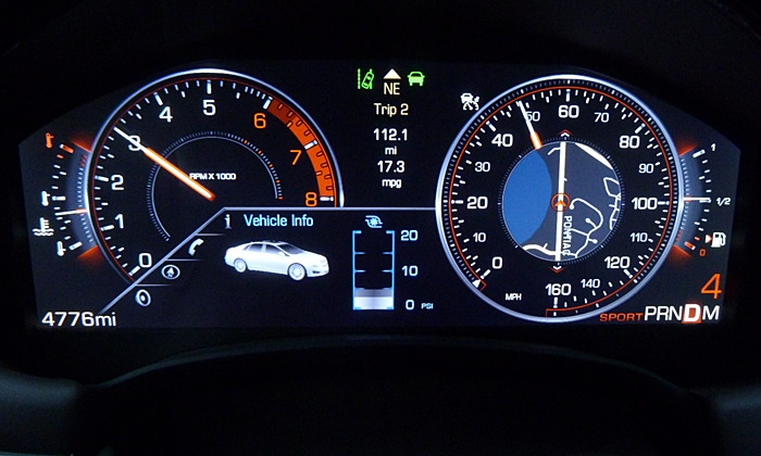 Cadillac XTS Photos: Cadillac XTS Vsport instruments sport mode