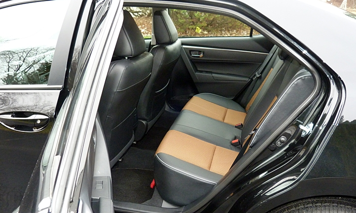 Corolla Reviews: 2014 Toyota Corolla S back seat