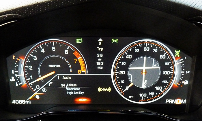 Cadillac CTS Photos: Cadillac CTS LCD instrument cluster sport mode