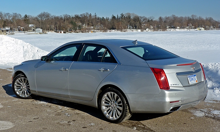 CTS Reviews: Cadillac CTS rear quarter view