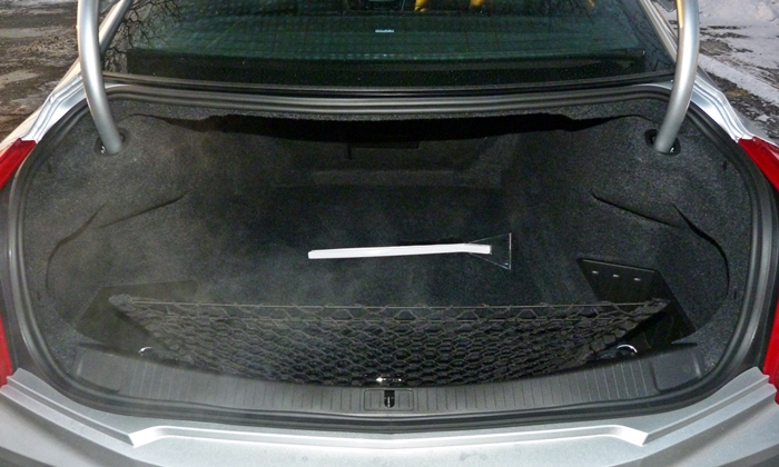 CTS Reviews: Cadillac CTS trunk
