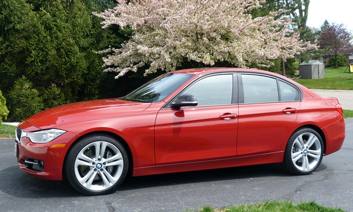 Cadillac ATS Photos: BMW 335i front quarter