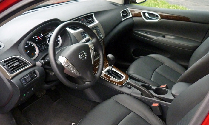 Sentra Reviews: 2014 Nissan Sentra SL interior