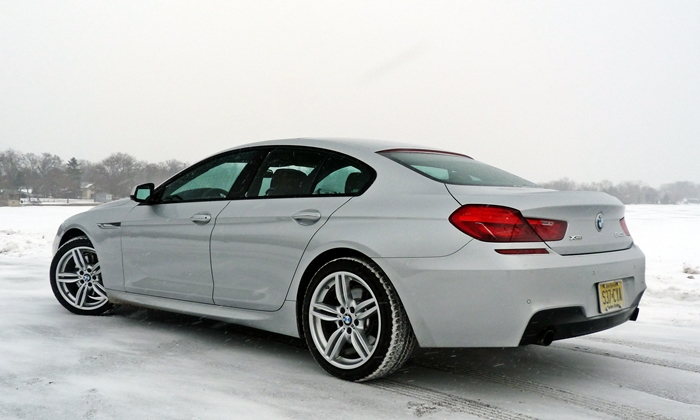 BMW 6-Series Gran Coupe Photos: BMW 640i Gran Coupe rear quarter view low angle