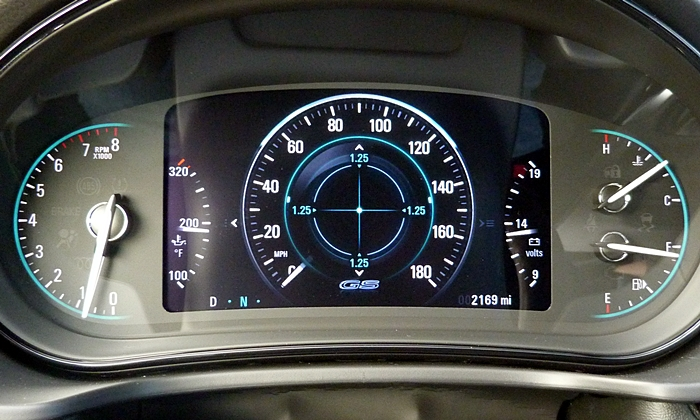 Buick Regal Photos: Buick Regal GS reconfigurable instrument cluster