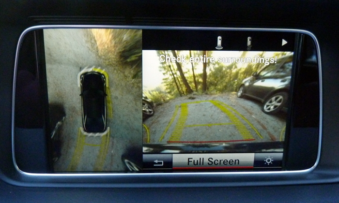Mercedes-Benz E-Class Photos: Around-view camera system
