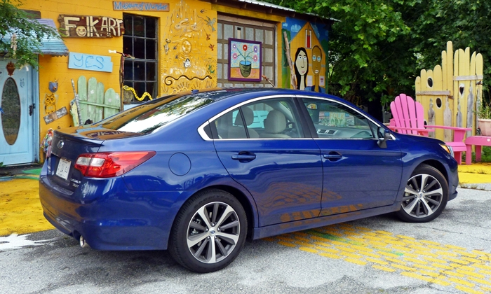 Legacy Reviews: Subaru Legacy 3.6R Limited rear quarter view