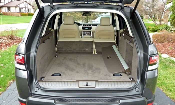 Range Rover Sport Reviews: Range Rover Sport cargo area seat folded