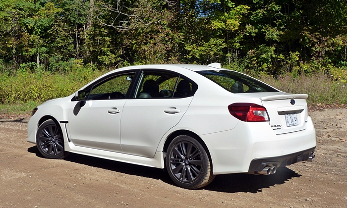 WRX Reviews: 2015 Subaru WRX rear quarter view on dirt