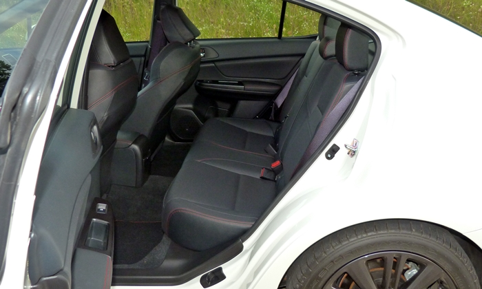 WRX Reviews: 2015 Subaru WRX back seat