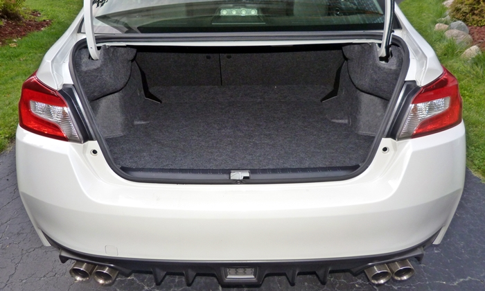 WRX Reviews: 2015 Subaru WRX trunk