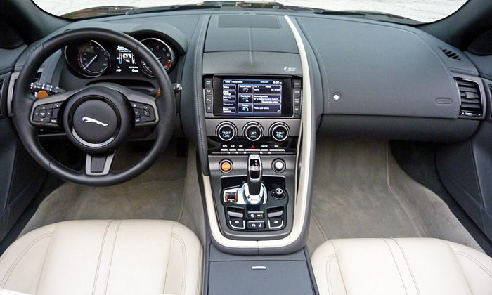 F-Type Reviews: Jaguar F-Type instrument panel full