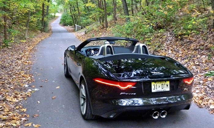 Jaguar F-Type Photos: Jaguar F-Type rear view