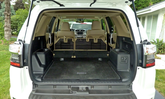 4Runner Reviews: Toyota 4Runner Limited cargo area seats folded