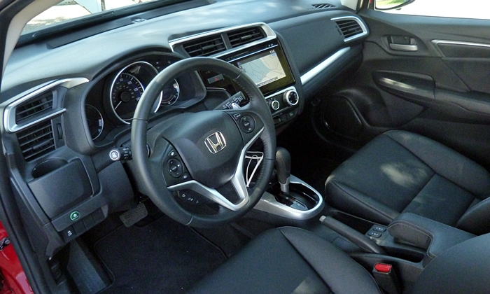 Ford Fiesta Photos: 2015 Honda Fit EX-L interior