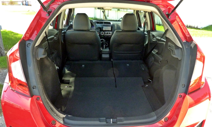 Ford Fiesta Photos: Honda Fit cargo area seats folded