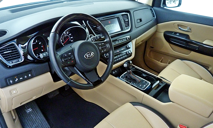 Sedona Reviews: Kia Sedona SXL interior