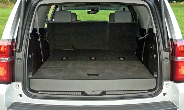 Chevrolet Tahoe / Suburban Photos: Chevrolet Tahoe cargo third row folded