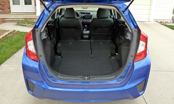 Fit Reviews: 2015 Honda Fit seats folded