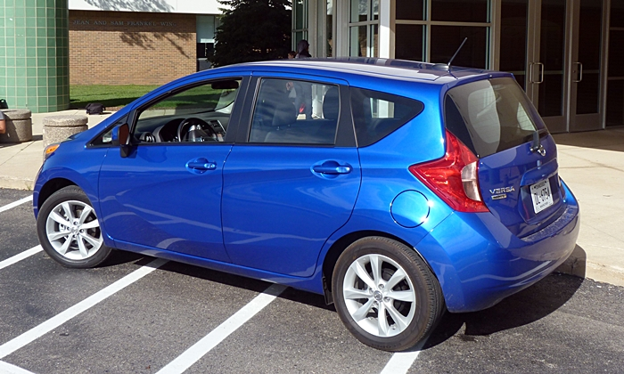 Honda Fit Photos: 2014 Nissan Versa Note rear quarter view