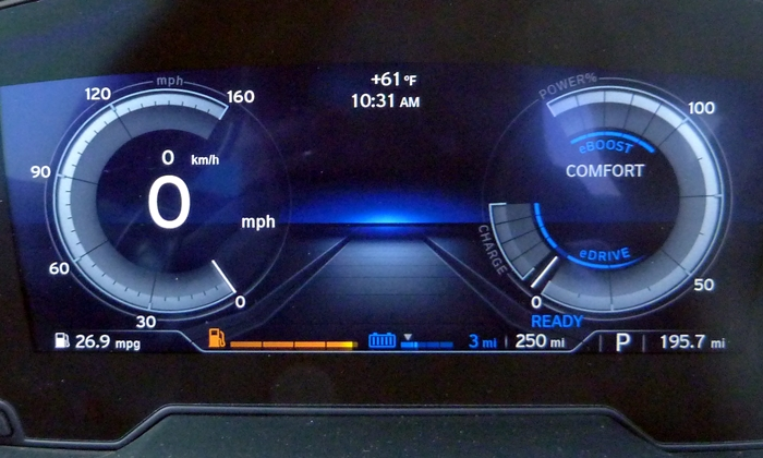 BMW i8 Photos: BMW i8 instruments comfort mode