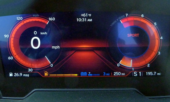 BMW i8 Photos: BMW i8 instruments sport mode.