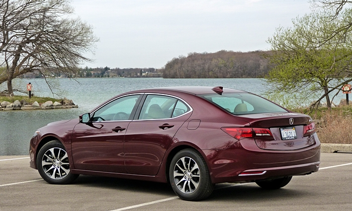 TLX Reviews: Acura TLX rear quarter view