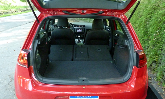 Mini Hardtop Photos: Volkswagen GTI cargo area seats folded
