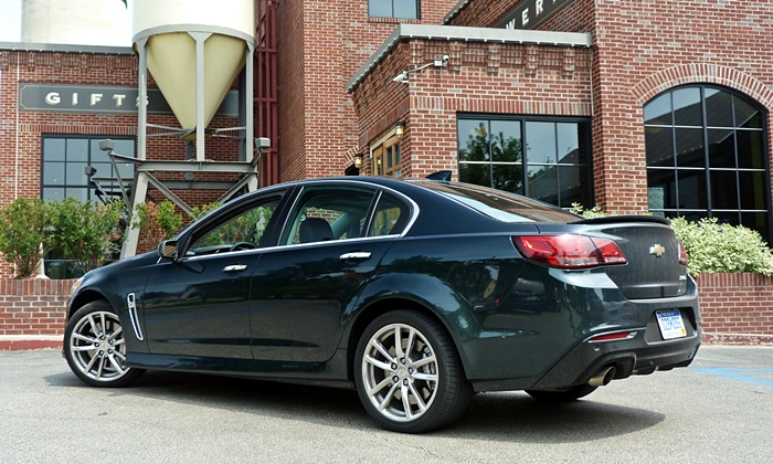 SS Reviews: Chevrolet SS rear quarter view