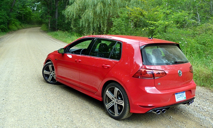 Volkswagen Golf / Rabbit / GTI Photos: Volkswagen Golf R rear quarter view