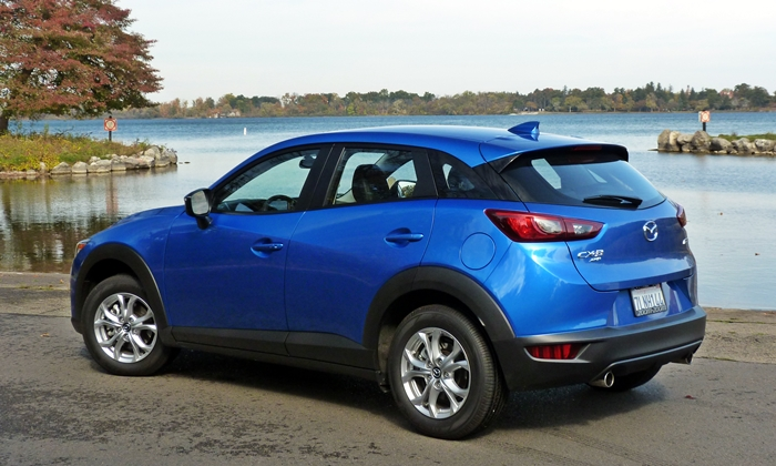 CX-3 Reviews: Mazda CX-3 rear quarter view