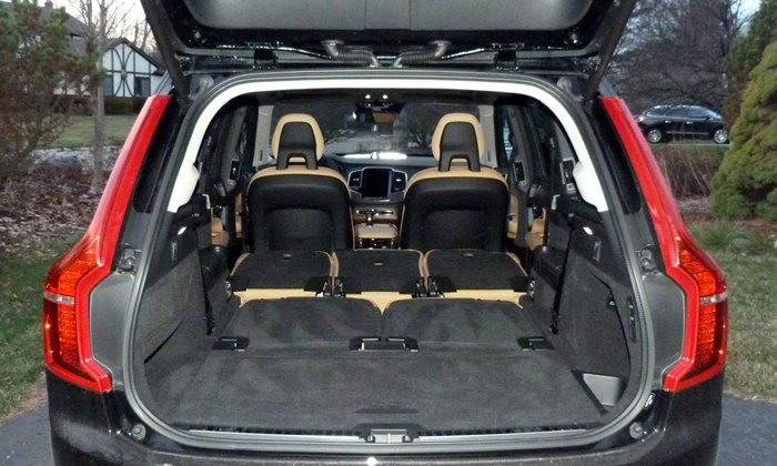 XC90 Reviews: 2016 Volvo XC90 cargo area both rows folded