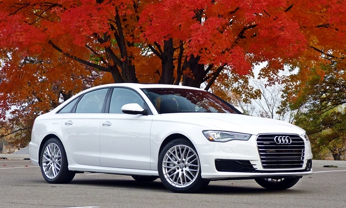 Hyundai Genesis Photos: Audi A6 front quarter view