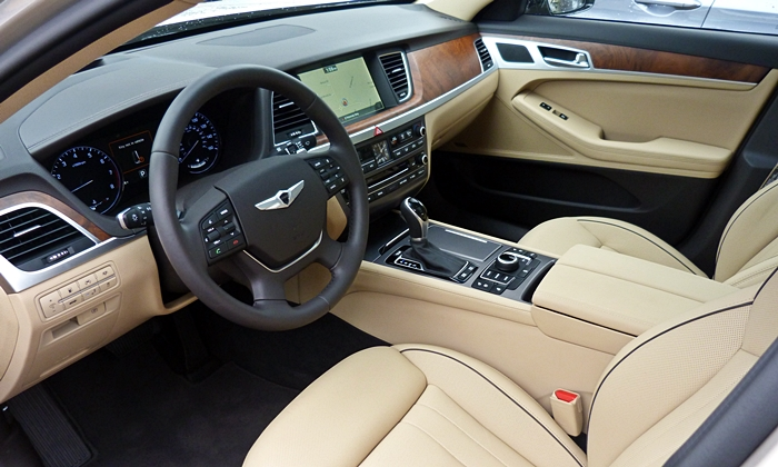 Hyundai Genesis Photos: Hyundai Genesis tan interior