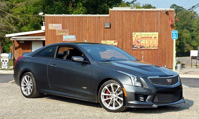 Cadillac ATS-V front quarter view Hell
