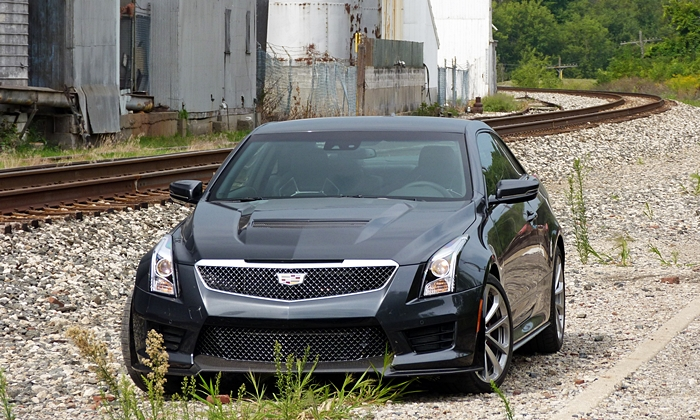 Cadillac ATS Photos: Cadillac ATS-V front view tracks