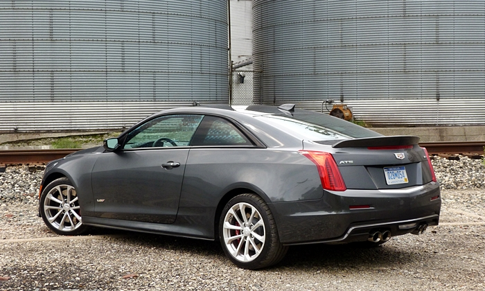 ATS Reviews: Cadillac ATS-V coupe rear quarter