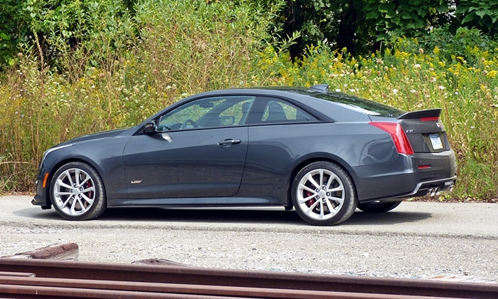 Cadillac ATS Photos: Cadillac ATS-V almost side view