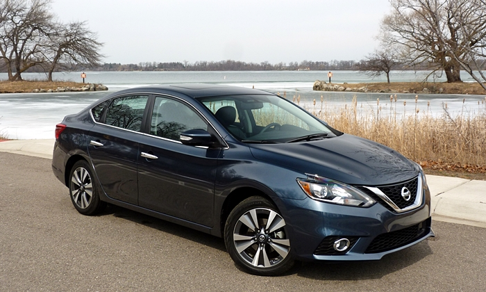 Sentra Reviews: Nissan Sentra front quarter view