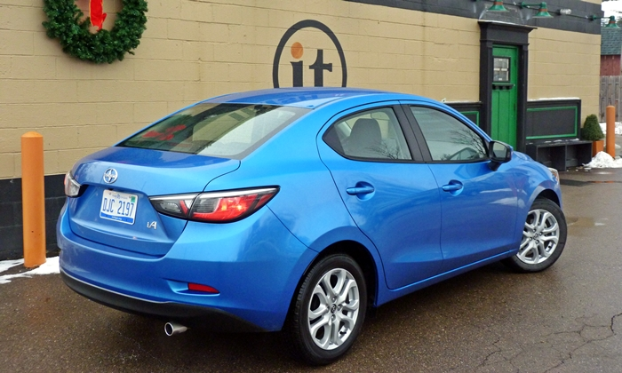 iA Reviews: Scion iA rear quarter view