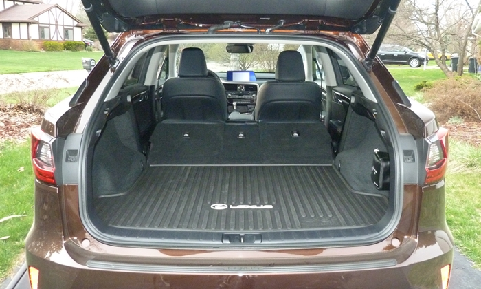 RX Reviews: Lexus RX 350 cargo area seats folded