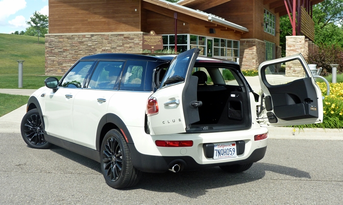 Mini Clubman Photos: Mini Cooper Clubman rear angle doors open