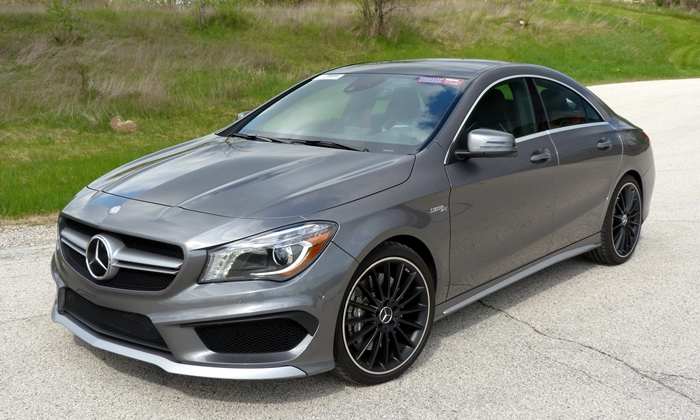 Audi A3 / S3 Photos: Mercedes-AMG CLA45 front quarter